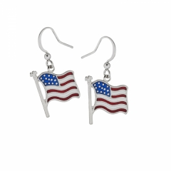 American Flag epoxy dangle earrings