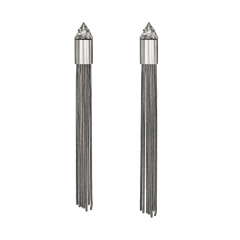 E-1426 Cubic Zirconia tassel earring