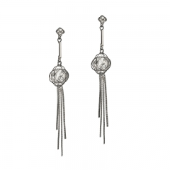 E-1427 Cubic Zirconia tassel earring