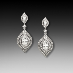 E-1431 Cubic Zirconia Bridal earring