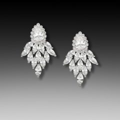 E-1432 Cubic Zirconia Bridal earring