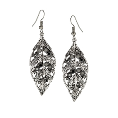 Austrian Crystal leaf drop earrings