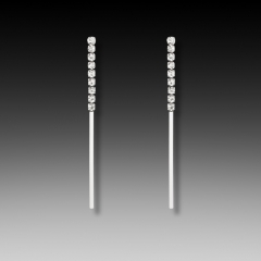 crystal linear earring