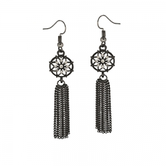 dream catcher hematite finish earrings