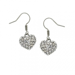 AUSTRIAN CRYSTAL PAVE HEARD DANGLE EARRINGS