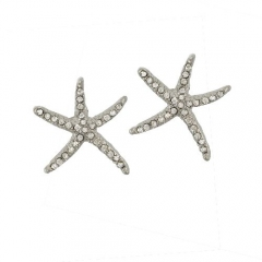 PAVE STARFISH POST EARRINGS