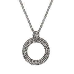AUSTRIAN CRYSTAL PAVE CIRCLE NECKLACE