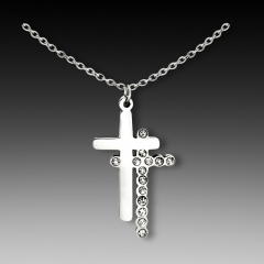 N-1457 stainless steel cross necklace