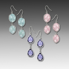 frosted stone earrings