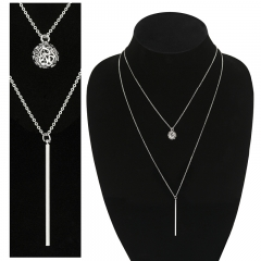 long 2 row necklace