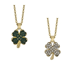 pave clover necklace
