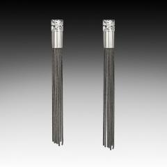 E-1425 Cubic Zirconia Tassel earring