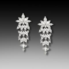 E-1429 cubic Zirconia bridal earring