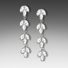 E-1430 Cubic Zirconia Bridal earring